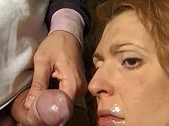 freckled model forced blowjob