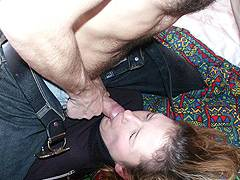 forced swallow own cum video