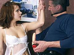 forced to give handjob